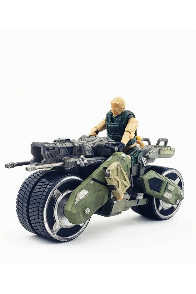 1/24  (Loss Box) Cheetah Battle Motorcycle with soldier