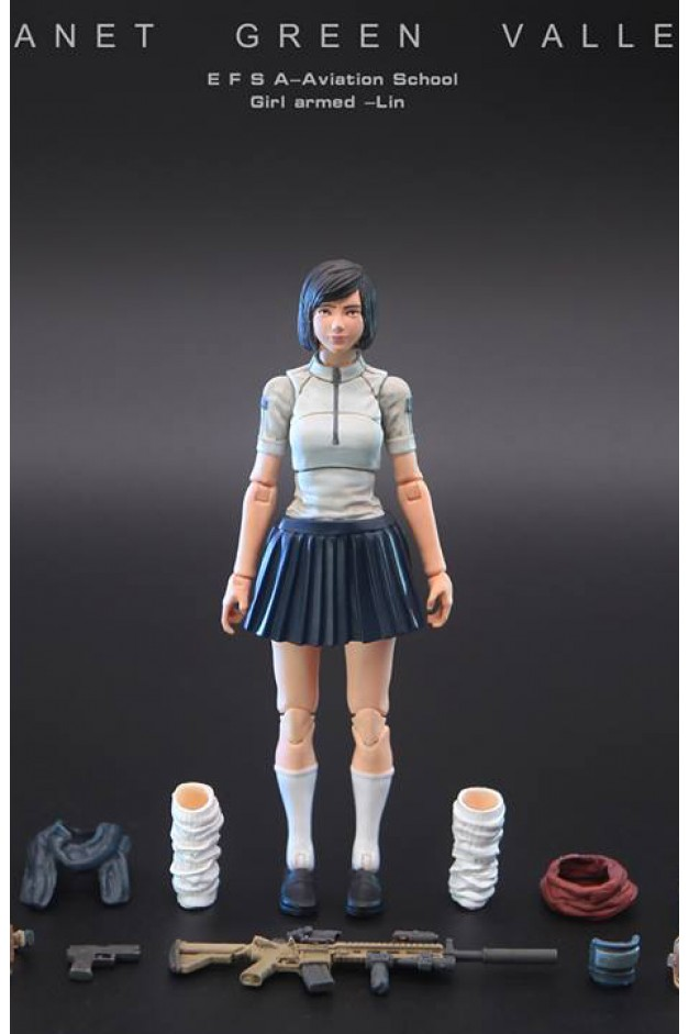 School Girl Armed - Lin