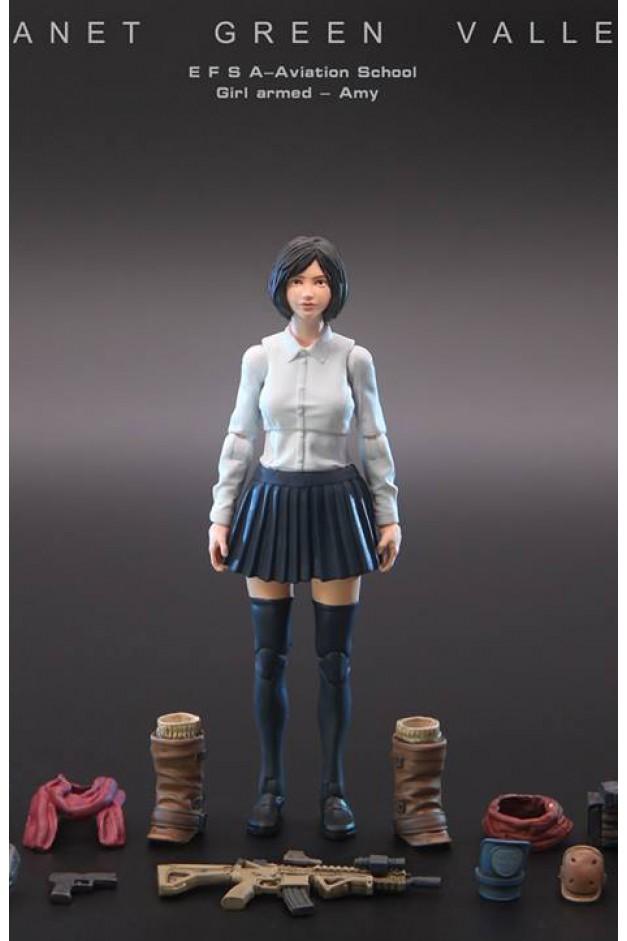 School Girl Armed - Amy